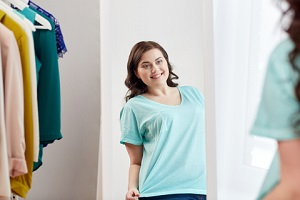 blue tee for low cost plus size wardrobe