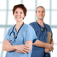 Size-Friendly Doctor and Nurse