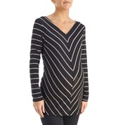 Burlington striped top - low cost plus size maternity wardrobe